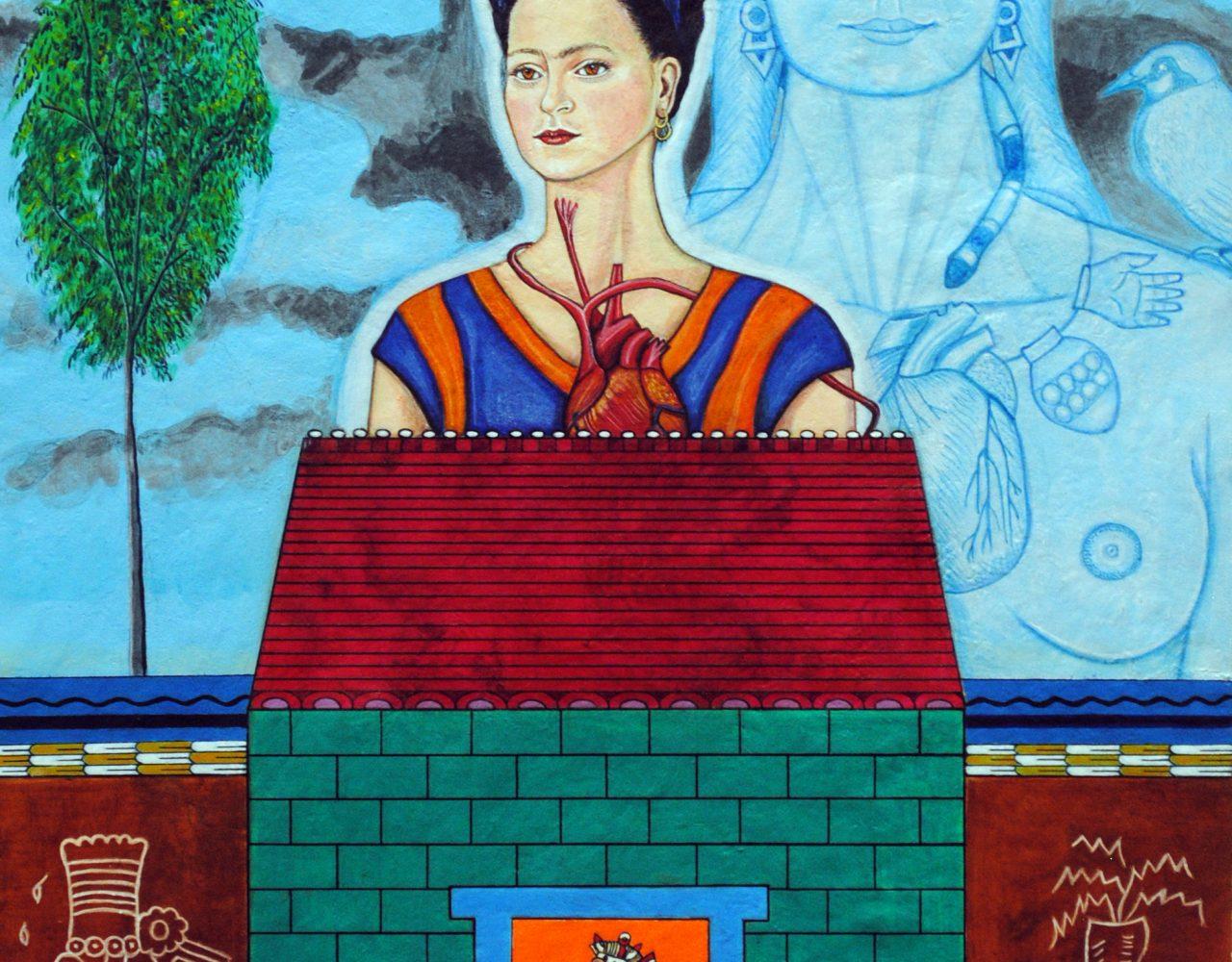 """Mujeres Nobles Series: Frida con Tezcatlipocay Coyolxauhqui"" 2015"