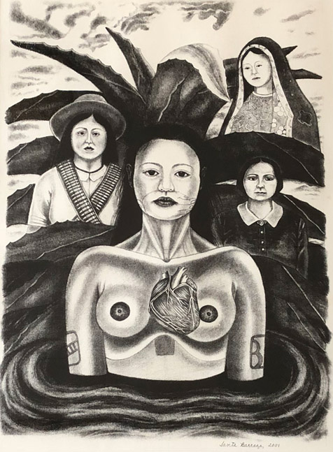 """Cihuateteo con Adelita, Guadalupe, y Petra Vela"" 2001"