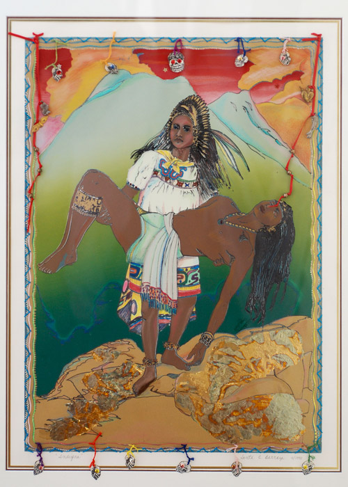 """Iztaccihuatl and Popocatepetl, Reversed"" 1990"