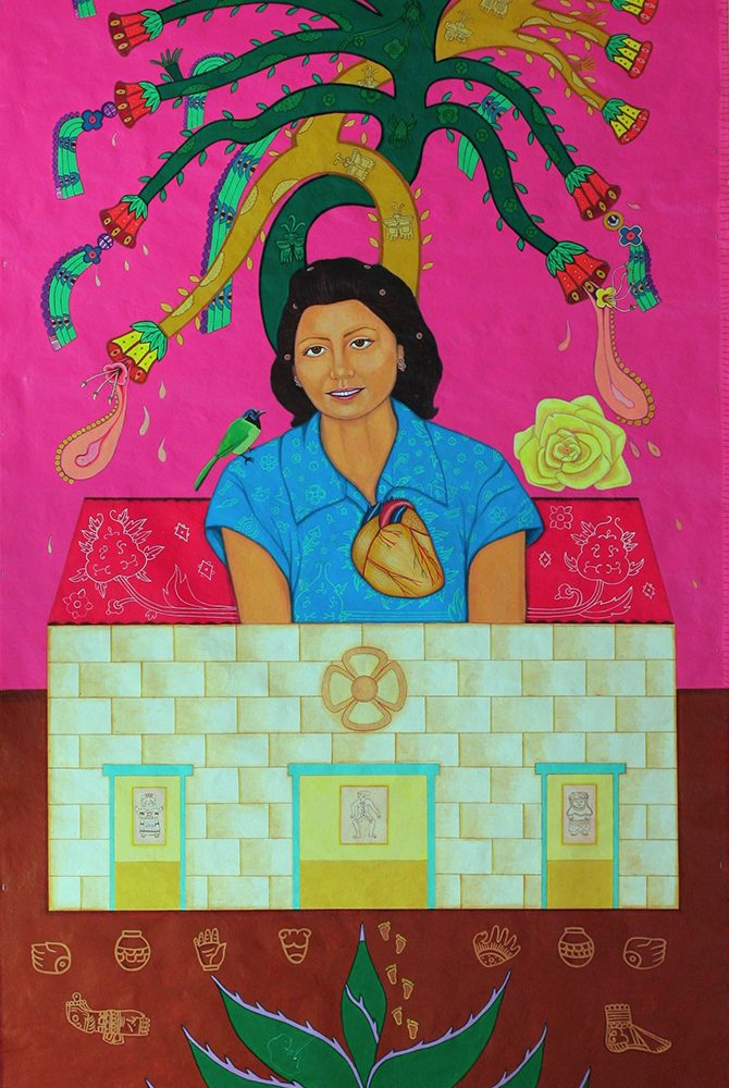 """Mujeres Nobles Series: Frances con el Arbol de la Vida"""" 2011"""