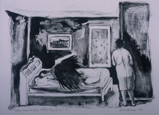 """Dream Series: Mother Looks on While Vulture Preys on Us, III"" 1982"