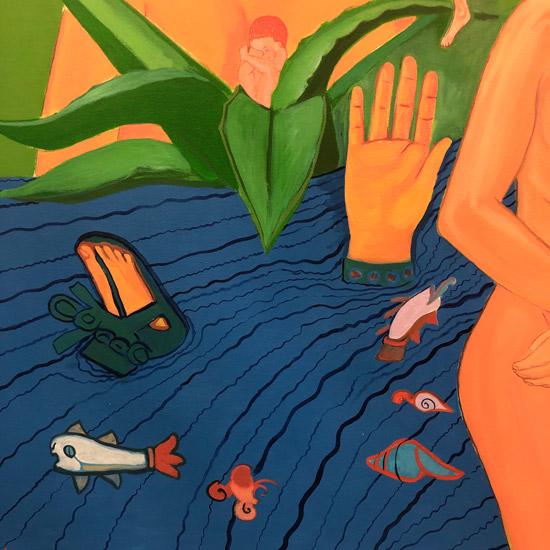 """Details on Mujeres de Nepantla: Agua I"" 1995"
