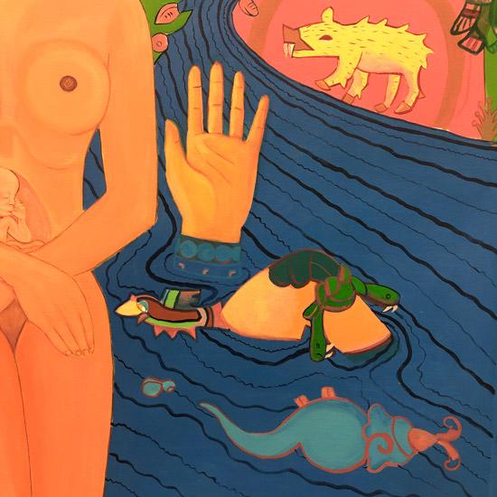 """""""Details on Mujeres de Nepantla: Agua II"""" 1995"""