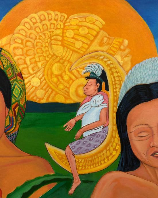 """Details on Mujeres de Nepantla: Coyolxauhqui"" 1995"