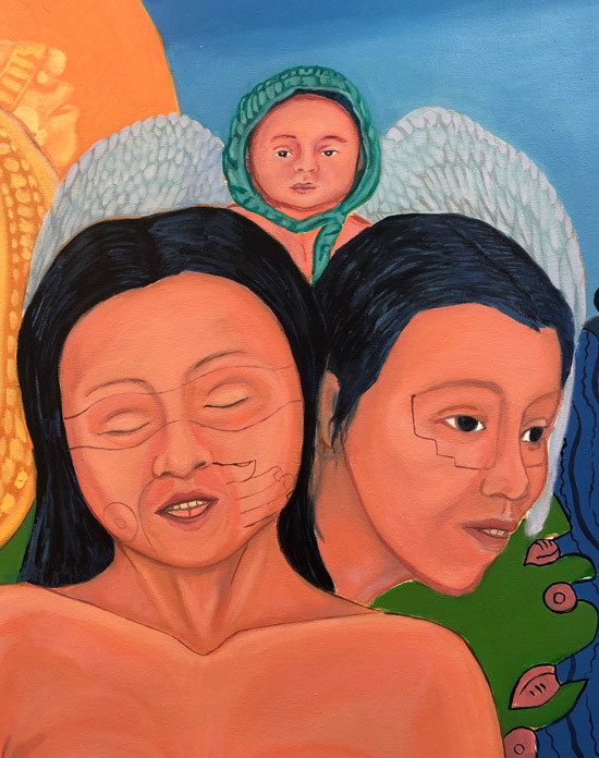 """Details of Mujeres de Nepantla: Llorona Portrait"" 1995"