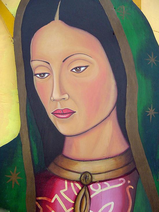 """Portrait of Virgen de Guadalupe Mural"""