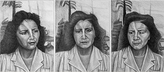 """Three Portraits of Mother"" 1980"