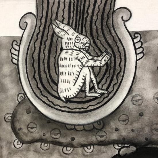 """Details of Teotl: Coyolxauhqui Moon I Symbol"" 1995"